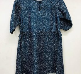 BLUE FLOWER PRINTED FROCK FOR GIRLS 01