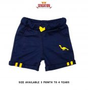 BLUE DINOSORE EMBRIODED SHORTS FOR BOYS