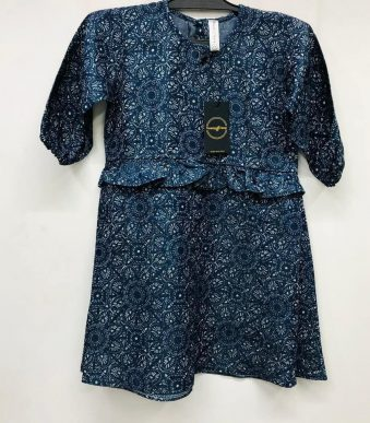 BLUE FLOWER PRINTED FROCK FOR GIRLS 02